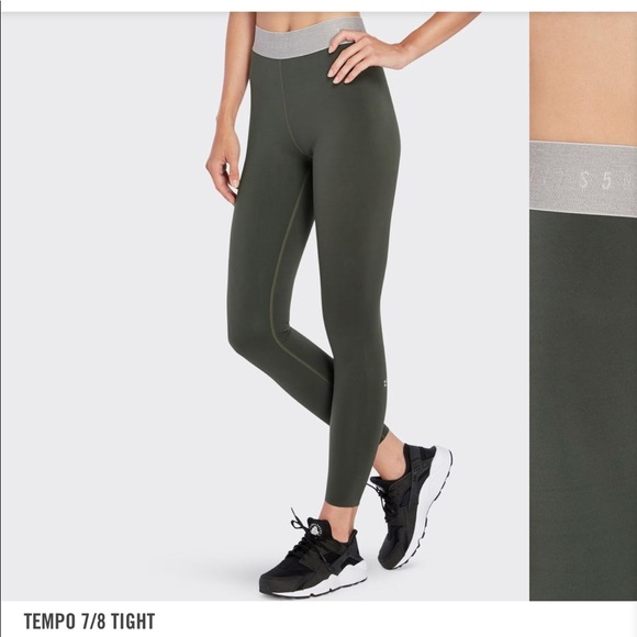 cozy fresh 88a9d 985c2 NWT SPLITS59 OLIVE GREEN WORKOUT LEGGINGS SMALL